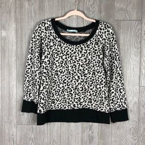 Black and white Cheetah Sweater Maurices